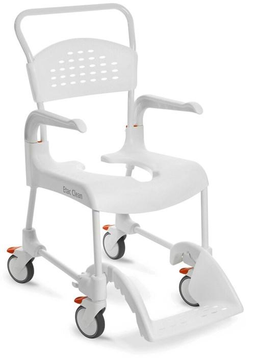 Toaletná stolička Shower Clean - biela